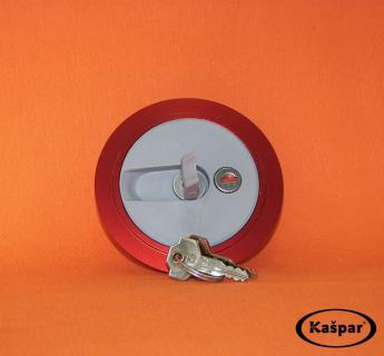 Fuel tank lid- lockable